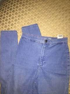 Topshop Blue Joni Jeans