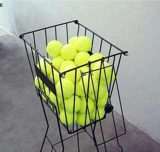 Tennis balls basket trolley