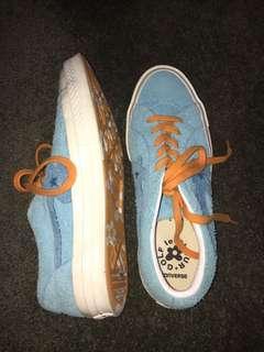 Gold Le fleur blue sneakers