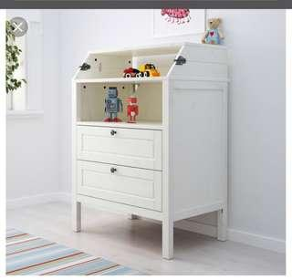 Ikea Sundvik Changing Diaper with chest drawers
