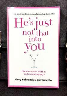 #3×100《New Book Condition + Relationship  Book For Ladies From Writer & Consultant Of Sex And The City》Greg Behrendt & Liz Tuccillo - HE'S JUST NOT THAT INTO YOU : The No-Excuses Truth to Understanding Guys