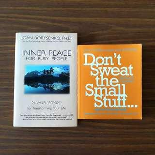2 for $15: Inner Peace for Busy People; Don't Sweat the Small Stuff...