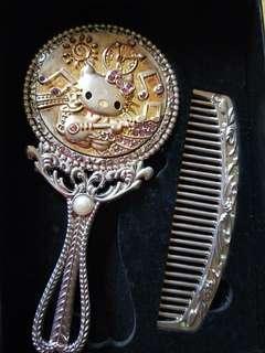 Hello kitty mirror + comb set