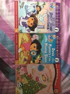 0-6 years old Young Reader Story books- Dora and Strawberry shortcake
