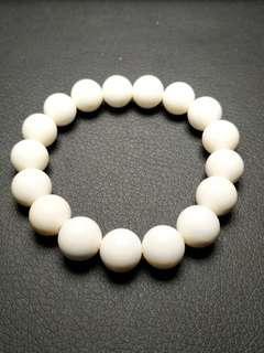 纯白硨磲手串 精品 特價出售