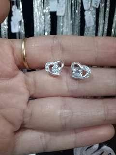 Genuine 925 Italy silver stud earrings
