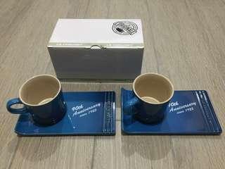 LE CREUSET 陶瓷杯200毫升連托碟2件裝