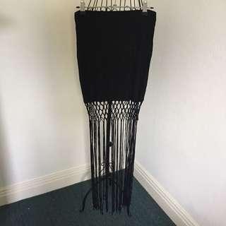 (S) Coachella tassel skirt