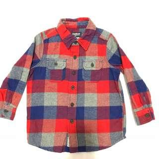 Oshkosh Plaid Flannel Shirt