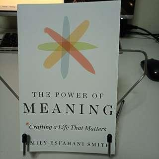 The Power of Meaning Emily Esfahani Smith book