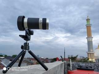 Lensa Tele 8X Zoom utk hp fullset new
