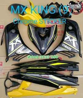 COVERSET YAMAHA 135LC MX KIMG KUNING CHROME HITAM