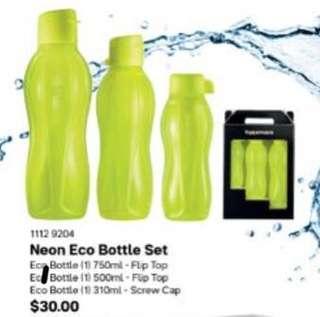 Tupperware Eco Bottles Gift Set (Yellow) - BPA Free