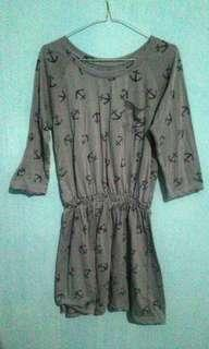 Mini dress motif jangkar