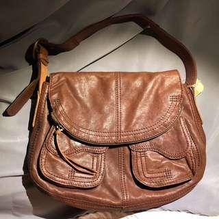 Brand new NWT Lucky Brand Stash 100% leather shoulder bag
