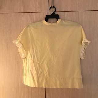 Yellow Top with Ruffle