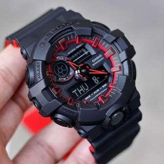 🔴🔴🔴 100% Authentic Casio Gshock Red Black GA700SE Unisex Sports Watch with FREE DELIVERY 📦 G-Shock