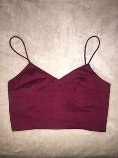 Burgundy Bralette Top