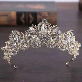 Mahkota tiara headpiece crown wedding hijab