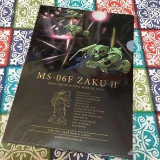 高達 Gundam A4 file 文件夾 MS-06F Zaku II 綠渣 渣古 UC 0079 自護 ZEON 一年戰爭 One Year War