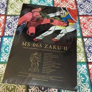 高達 Gundam A4 file 文件夾 MS-06S Zaku II 馬沙 紅渣 渣古 UC 0079 自護 ZEON 一年戰爭 One Year War