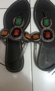 Sepatu sandal Vincci black ori