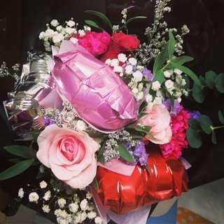 Huamama Rose Balloon