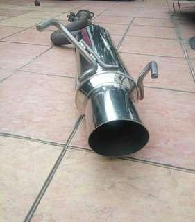 Exhaust muffler rsr exmag with silencer