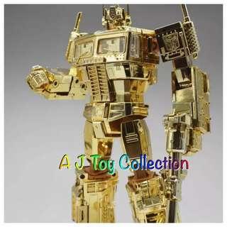 [ In Stock ] Transformers MP10G Gold Optimus Prime KO