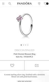 Pandora Oriental Blossom Ring Size 52