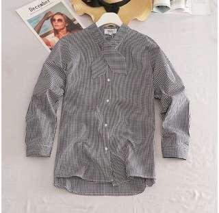 FREE POSTAGE CHECKERED BLOUSE
