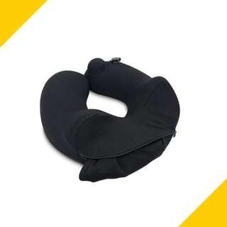 Travelmall 3D Inflatable Nursing Neck Pillow with Patented Pump & Hood
