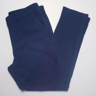 EXECUTIVE PONIES - Size 10 - Blue Cotton Trouser Pants