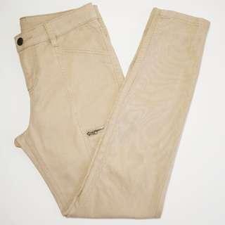 MIX - Size 8 - Khaki Zipper Detail Jeans