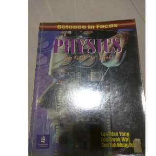 O-level physics textbook for sale