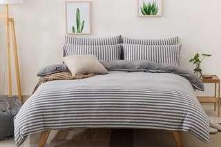4 in 1 Bedsheet + Quilt Cover + Pillow Cover!