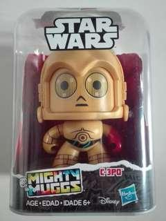 Star Wars C-3PO Mighty Muggs figure Hasbro Disney TRU
