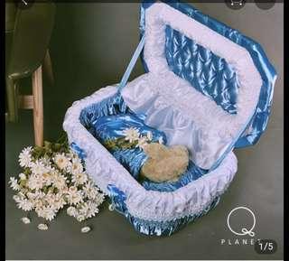 寵物棺材進口環保紙棺可火化  此價格是s價格尚有m號跟L號可ㄙ訓