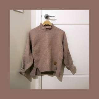 Dusty pink cable knit jumper