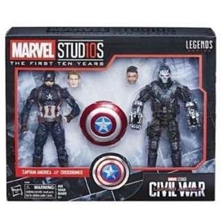 現貨全新 美國隊長 十字骨 Captain America and Crossbones Marvel Legends Avengers Civil War infinity 6 inch Action Figure