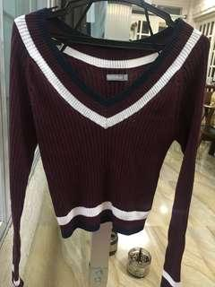 6ixty-8ight Long Sleeved Varsity Cropped Top