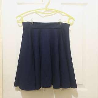 [Pre-loved] Navy Blue Circle Skirt