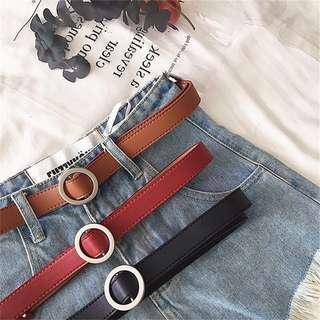 🚚 BN Minimalist Round Buckle Black Belt