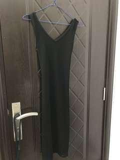 Imported Black Criss Cross Dress