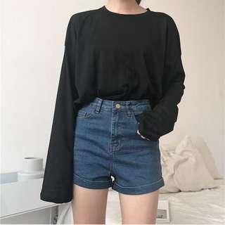 🚚 BN Super Stretchable High Waist Dark Blue Denim Shorts