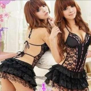 Women Lingerie Babydoll Night Dress Sleepwear L