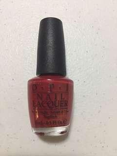 OPI nail polish in Love is in my Cards (Red)