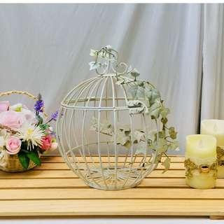 鐵藝鳥籠 花藝歐式金色婚慶婚禮裝飾 攝影櫥窗道具擺件(小)