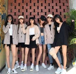 🔥PO🔥 Korean Plaid Blazer