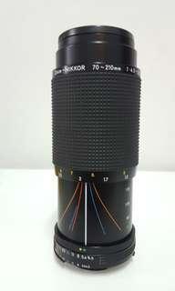 lens zoom - nikkor 70 - 210mm f 4.5 - 5.6